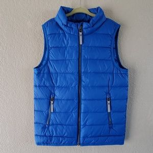 Hanna Andersson 130 8 blue down puffer vest 🆕️